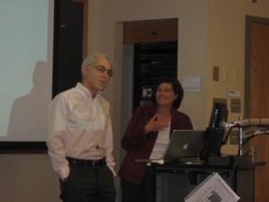 Dept. Chairman Walter Gantz announces Professor Joanne Cantor as the Dept.'s First Oustanding Alumni Award Recipient
